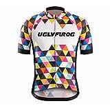 Uglyfrog Bike Wear Short Sleeve Cycling Jersey Men's Summer Style Sports Wear Triathlon Clothing UKHDX10