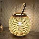 YGBH Lampe à Poser rétro, éclairage en Bambou, Chambre Simple, Famille, Salon...