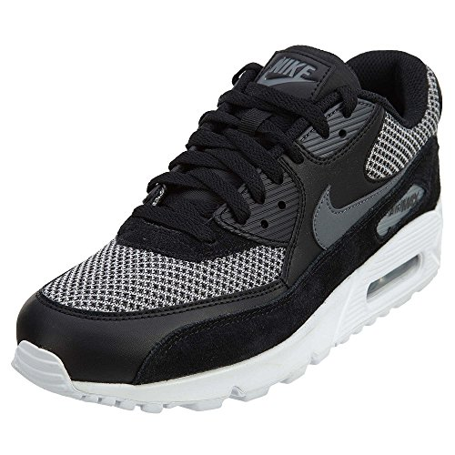 Nike Herren Air Max 90 Essential Sneaker, Schwarz (Black/Dark Grey Dark Grey-Chrome-White), 41 EU (Stiefel Winter Nike)