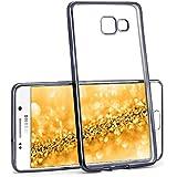 Case Chrome pour Samsung Galaxy A3 (2016)   Etui en silicone transparent avec effet métallique   Thin Sac de protection cellulaire OneFlow   Backcover en Anthracite-Black