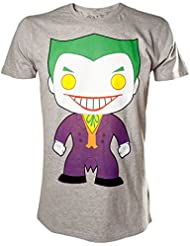 Batman - Camiseta - Pop heroes Joker - unisex - gris