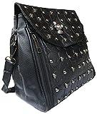 Rockabilly Punk Rock Baby Tasche Schwarz Nieten Skull Totenkopf Handtasche Bag