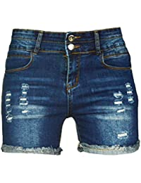 PHOENISING Women's Sexy Ripped Hole Short Shorts Fashion Jeans Distressed Denim Pants,Size 6-20