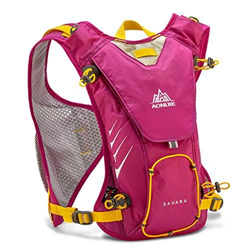 Imagen de aonijie 8l deportes al aire libre  ligera para correr ciclismo senderismo bolsa + 1,5l bolso de agua, hot pink alternativa