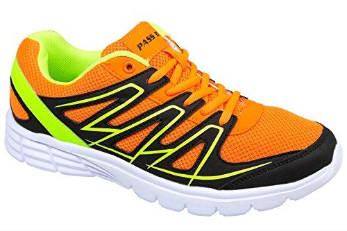 GIBRA® Herren Sportschuhe, sehr leicht und bequem, orange/neongrün, Gr. 41-46 orange/neongrün