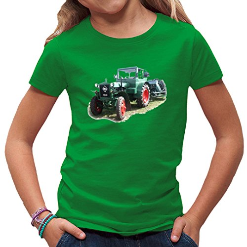 Traktoren Kinder T-Shirt - Motiv: Traktor IFA Pionier RS01 by Im-Shirt - Kelly Green Kinder 7-8 Jahre