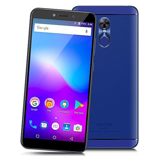 Vernee M6 - 4G LTE Smartphone 5.7 pulgadas de Pantalla Completa 18: 9 Ratio Octa-core 4GB RAM +64 GB ROM 3000mAh Android 7.0 Cámaras Duales 16.0MP + 8.0MP Cuerpo Ultra Delgado WIFI de Huella Digital GPS - Azul