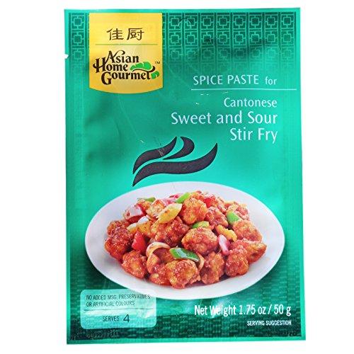 6x50g AHG Würzpaste für kantonesisches süß-sauer Gericht Asian Home Gourmet (Datum-sauce)