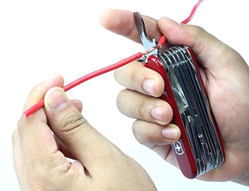 51LvBldqZ1L - Victorinox Taschenwerkzeug Offiziersmesser Swiss Champ Rot Swisschamp Officer's Knife, Red, 91mm
