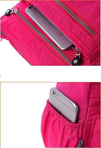 Frauen Messenger Bag AlfarTec Schultertaschen Nylon Damen Taschen Schulter Crossbody Taschen Mode Damen Handtaschen Reißverschluss Grey