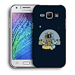 Snoogg Astronaut Doing Yoga Designer Protective Back Case Cover For Samsung Galaxy J1