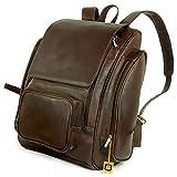 Sehr Großer Lederrucksack Größe XL/Laptop Rucksack bis 15,6 Zoll, für Damen und Herren, Braun, Jahn-Tasche 709