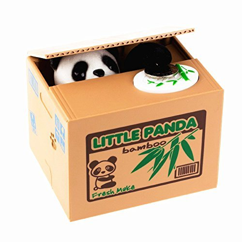 LMTECH Little Panda Money Bank Saving Box Panda Money Box Stealing Coin Panda by LMTECH -