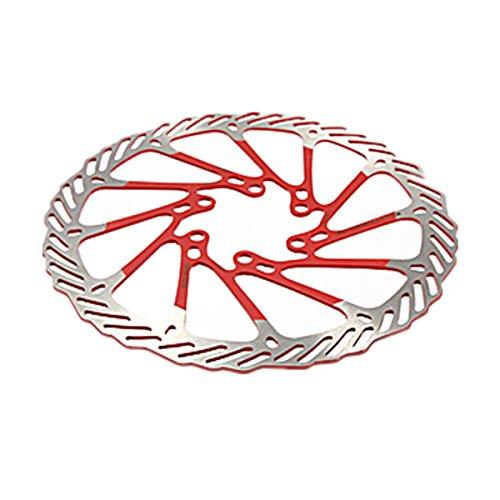 TOOGOO 2 X Disque De Frein à Disque en Acier Inoxydable pour VéLo De VTT, 160 Mm, avec 12 Boulons, Rouge