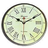 VieVogue Wanduhr, Holz Küchenuhr mit großem Ziffernblatt aus MDF, Retro Uhr im angesagtem Shabby Chic Design mit leisem Quarz-Uhrwerk (16 Jahrhundert, 30cm)