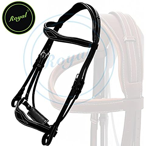 Royal Wave Dressage Bridle with Punch and