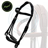 51LvF0WN2xL. SL160  BEST BUY UK #1Runners Wave Dressage Bridle with Punch and Loop Stylish Head Piece & PP Rubber Grip Reins./ Buffalo Leather./ Stainless Steel Buckles. price Reviews uk