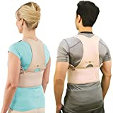 BUYERZONE WITH BZ LOGO Royal Posture Back Support Brace Corrects Slouching and Eases Pain