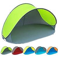 Pop Up Strandmuschel mit Boden UV-Schutz 60 - 220 x 120 x 100 - cm in verschiedenen Farben