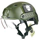 Atairsoft esercito stile militare SWAT combattimento BJ base Jump veloce casco W/occhiali protettivi od verde per CQB shooting Airsoft Paintball