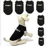 2 x Shirt Weste fuer Hunde, Dog, Vierbeiner, Hundemode, Pet, Welpen, Hunde Shirt, Hundekleidung, Hundemantel Security (XL)