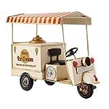 Clayre & Eef 6Y2445 Modell Eiswagen Dreirad Dairy Ice Cream Ca. 29 x 13 x 22 cm