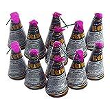 12 Stück Etna Vulkan Silvester Feuerwerk Eissterne Zaubersterne Eisfontäne Sternenregen Traumsterne Jugend-Party-Feuerwerk, 6 Stück mit silber Funkenregen