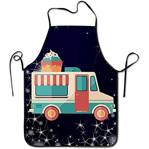Ziel Indianer Kostüm - Bee Brown Schürzen Ice Cream Van Chef Kitchen Kochen und Backen Lätzchen Schürze