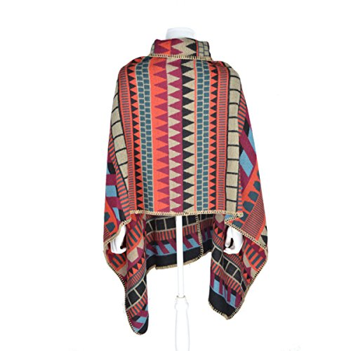 Sciarpa Dello Scialle Donna Button Moda Warm Retro Nazionale Del Vento Scialle Colorplaid