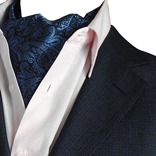 diventa nuovo bambino presa all'ingrosso NiSeng Cravatta Ascot Paisley Jacquard Multicolore Cravatte da Cerimonia  Cravatta da Uomo Ascot Accessories Marina#2