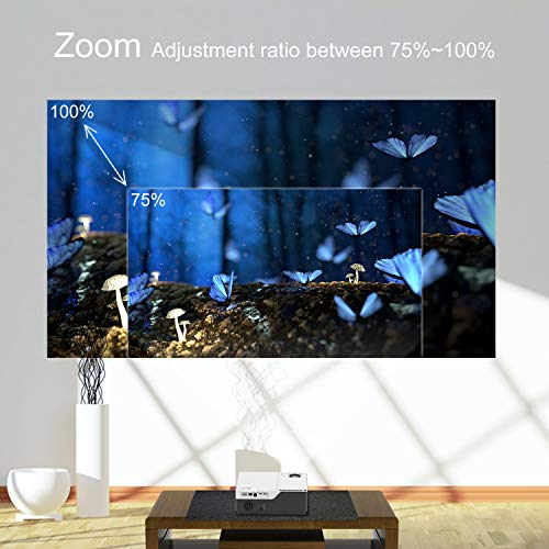 """51LvIpg1iZL. SS500  - Full HD Projector Artlii Native 1080P Projector 300"""" Display 5000:1 Contrast LED Video Projector with Zoom Compatible TV Stick HDMI VGA USB Xbox Laptop iPhone Android"""