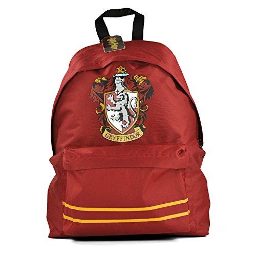 Image of Harry Potter Offical Gryffindor Crest Rucksack Backpack Bag Dark Red
