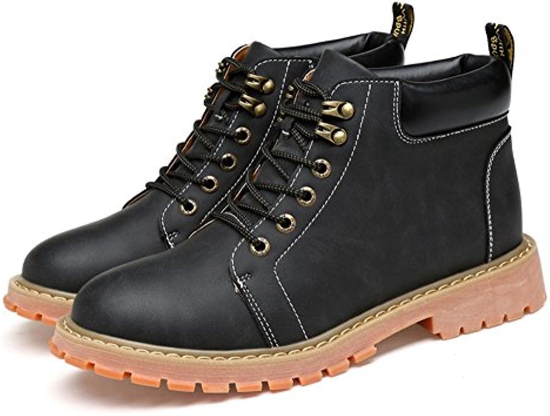 TMKOO 2017 Neue Herren Freizeitschuhe Martin Leder Schuhe Herrenmode Trend Schuhe Britischen High Top Schuhe MännerTMKOO Freizeitschuhe Herrenmode Britischen High Top
