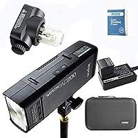 Godox AD200 2.4G TTL Bolsillo Flash 200Ws TTL HSS 1 / 8000s Flash con 2900mAh Litio Batería+AD-E holde+Portátil Flash Bolsa para DSLR Cámara
