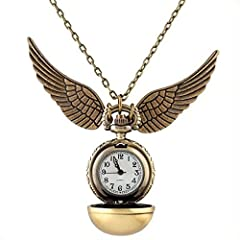 Idea Regalo - Quidditch, collana con orologio, collezione di accessori, idea regalo per i fan di Harry Potter