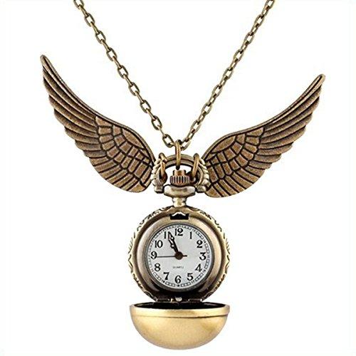 Reloj de bolsillo de Quidditch, ideal para llevar en un collar, regalo ideal para los fans de Harry Potter