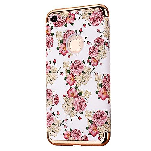 "iPhone 6sPlus Schutzhülle, CLTPY Luminous Feature Case Slim Fit iPhone 6Plus Hartplastik Abdeckung mit Gold Plating Removable Frame für 5.5"" Apple iPhone 6Plus/6sPlus (Nicht iPhone 6/6s) + 1 x Stift - Pinke Rose"
