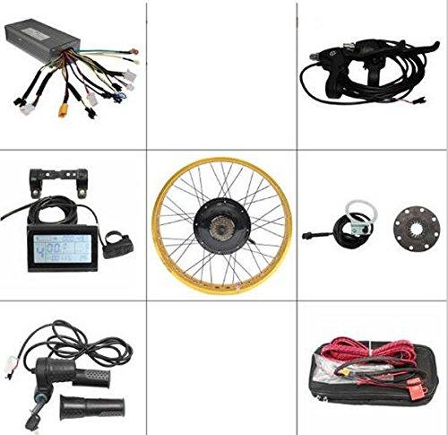 gratuit Shippingebike kit 72V 1500W Fat Pneu vélo électrique Kits de conversion écran LCD contrôle motorisé arrière 66cm Jante de roue 4couleurs