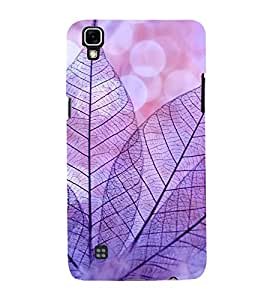 Purple Leaves 3D Hard Polycarbonate Designer Back Case Cover for LG X Power :: LG X Power K220DS K220