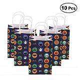 STOBOK 10 Stücke Halloween Papiertaschen Geschenktasche Geschenktüten Tüten mit Griff für Party Süßigkeiten (21x13x8 cm)