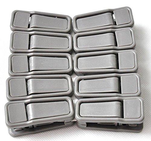 Leisial Lot de 10 pinces à cintre en plastique antidérapant pour pantalons et chaussettes 5.5*2cm gris