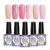 Sexy Mix UV Gel Nagellack rosa pink Nageldesign Maniküre gellack (6pcs×9ml)