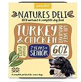 Natures Deli Schalen für Hunde, Truthahn und Hühner, aus Weide und Gluten, 400 g, 7 Stück