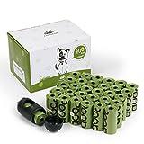 Fondear biologisch abbaubar umweltfreundlich Kotbeutel Hundebeutel Hundetüten Poop Bags mit Beutelspender und Leinenclip Gassibeutel 45 Rollen mit 20 Stücke pro Rolle