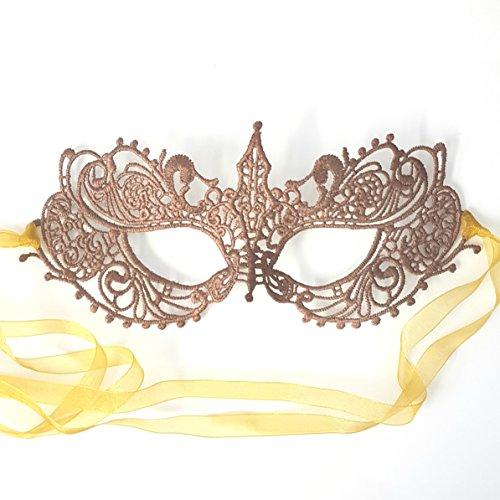 Atemberaubende Göttin Spitze Venezianische faschingsmasken Maskerade maskenball maske damen - Rosa ()