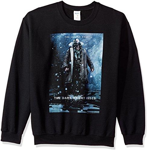Trevco Herren Batman Dark Knight Rises Bane Poster Crewneck Sweatshirt, Black, Klein (Dark Bane Rises Knight)