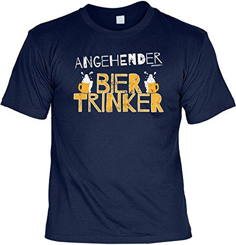 Lustiges Karneval Partyshirt / Bier Sprüche : Angehender / Angehender Biertrinker - Goodman Design - Bier Funshirt Navy-Blau