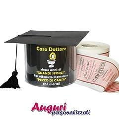 Idea Regalo - Carta igienica cappello di laurea