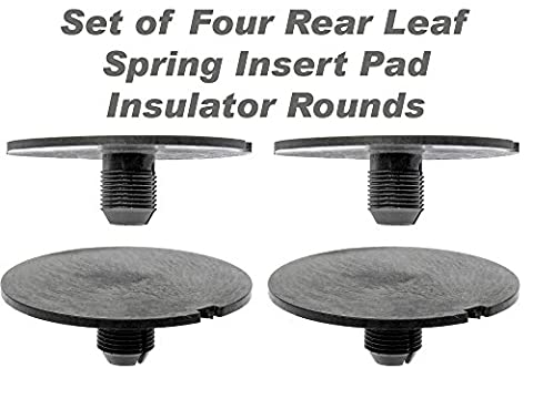 APDTY 035181 Rear Leaf Spring Plastic Insert Pad Spacer Insulator Round Set Of 4 Fits 1998-2011 Chevy GMC Trucks (Replaces GM 20870046) by