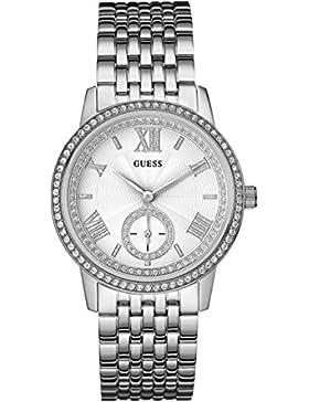 Guess Damen-Armbanduhr Ladies Dress Analog Quarz Edelstahl W0573L1